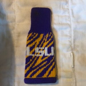 Cloth LSU koozie for longneck